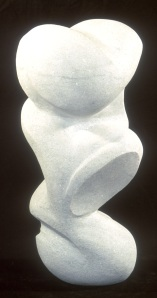 Modern Stone Sculpture White Marble Natural Stone