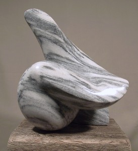 Modern Stone Sculpture White Marble Natural Stone Carving